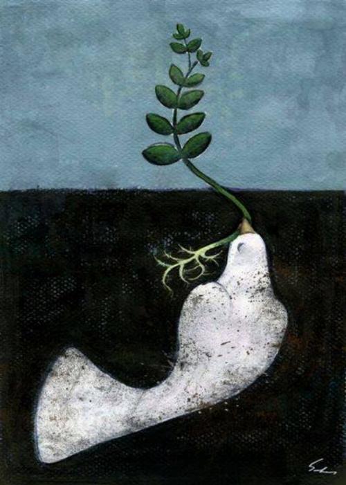 Paz by Iranian illustrator Sahar Ajami ( source )
