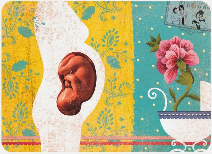 Illustration of Pregnancy by   Rebeca Luciani