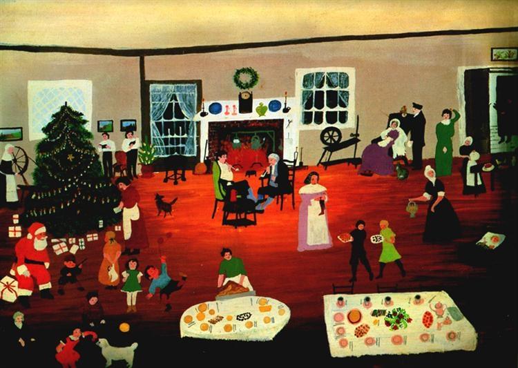 Christmas At Home by Grandma Moses