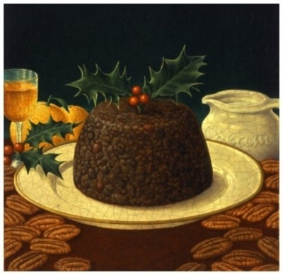 Christmas pudding  by George underwood ( source )