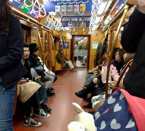 This beautiful wood-panelled subway, modeled after a famous movie train, made me want to stay on well past my stop