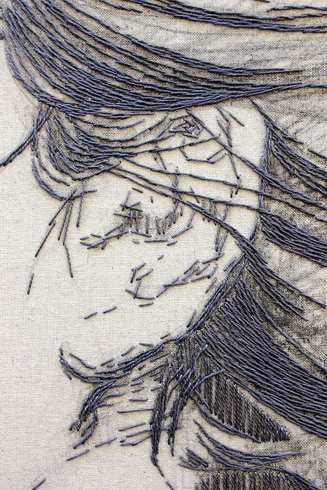 Contemporary, hand-stitched embroidery by Ilaria Margutti (source)