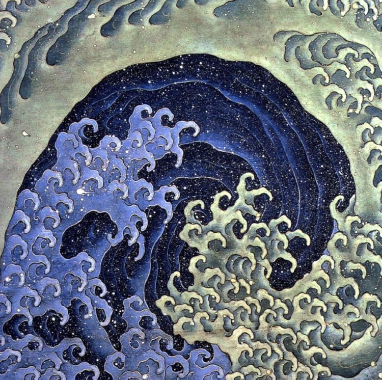Feminine Wave    by Katsushika Hokusai ( source )