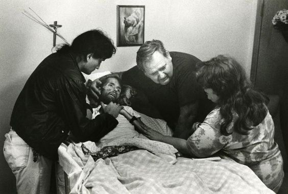 David Kirby and His family, 1990  (The Photo That Changed The Face of AIDS)   by Therese Frare ( source )