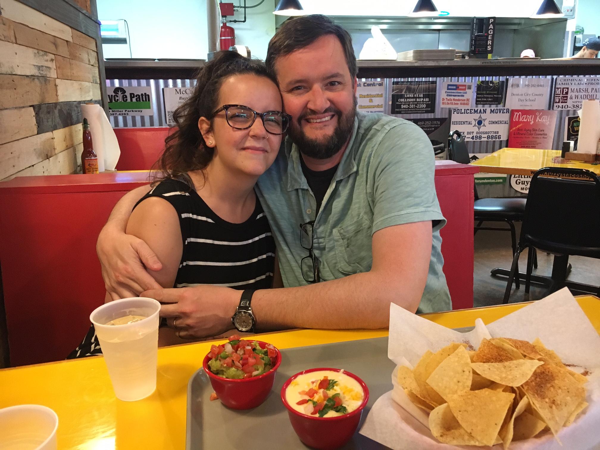margaritas & queso in Denton with Kendra