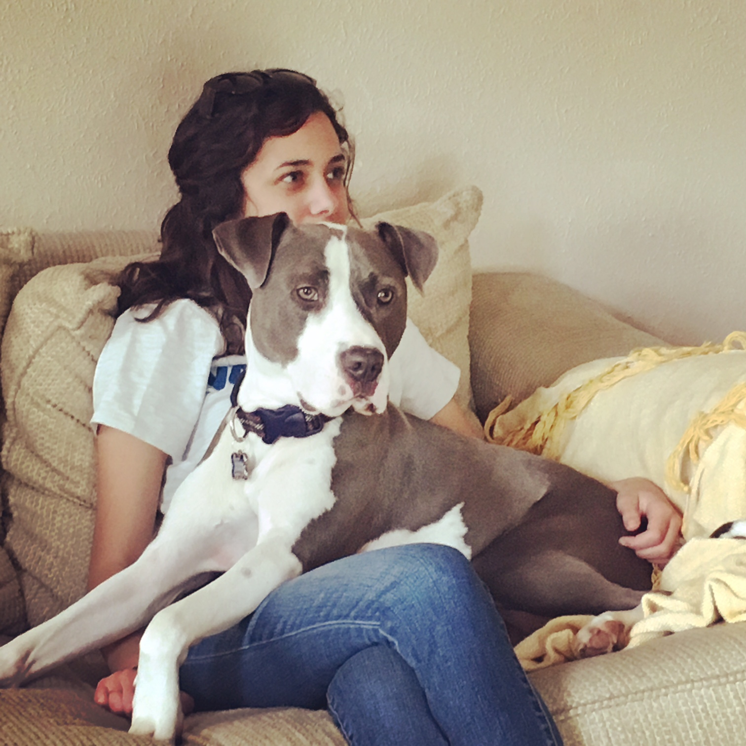 Bekah & Sully (who thinks he's a lap dog)