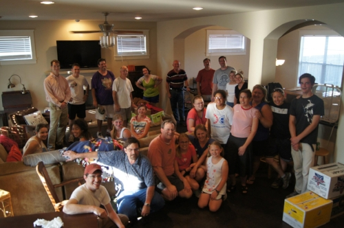 2012 - Moving in May is a semi-regular occurrence for us (5 times since 2008). Here's the Christ Church Austin crew that helped us in 2012. Gosh, I loved that house.
