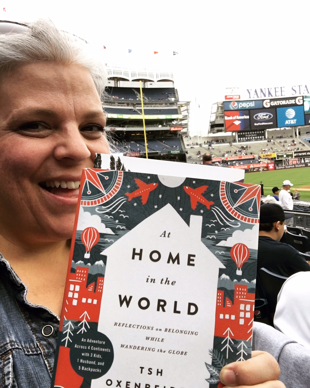 Reading at Yankee stadium