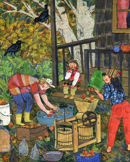 Cider Pressing by  Phoebe Wahl