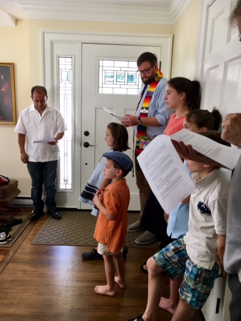 A house blessing for a family with the most adorable grandkids.