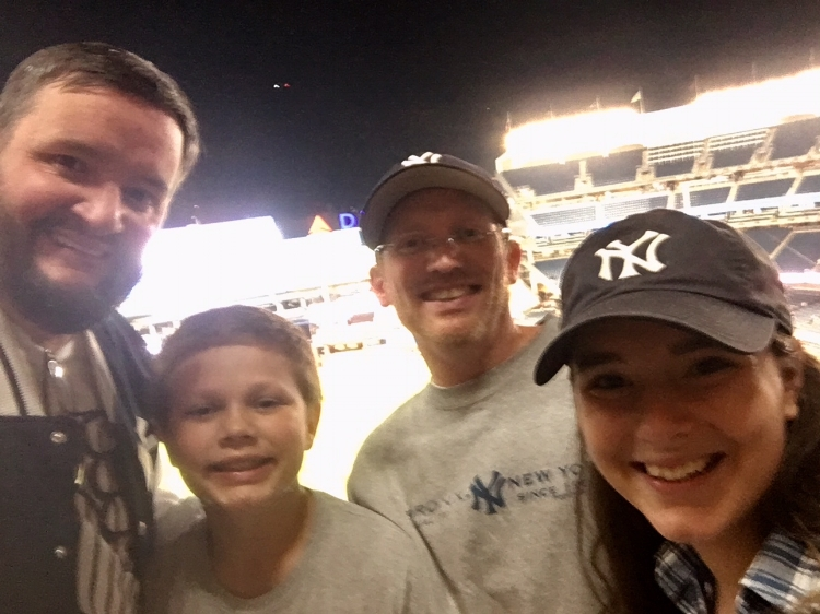 Our brother-in-law Wes and nephew Griffin drove in from Philadelphia to watch the game with Natalie & Brian.