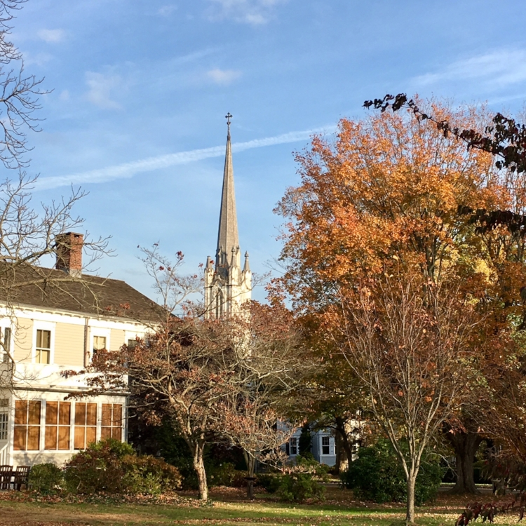 On the way to the Pequot Library in Southport. That's Trinity Episcopal Church.