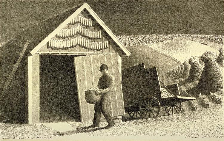 Seed Time and Harvest  Grant Wood, 1937