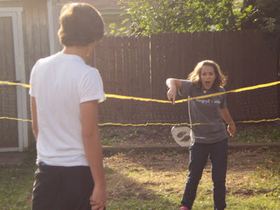 9 years ago - Last day of summer badminton match (2009).