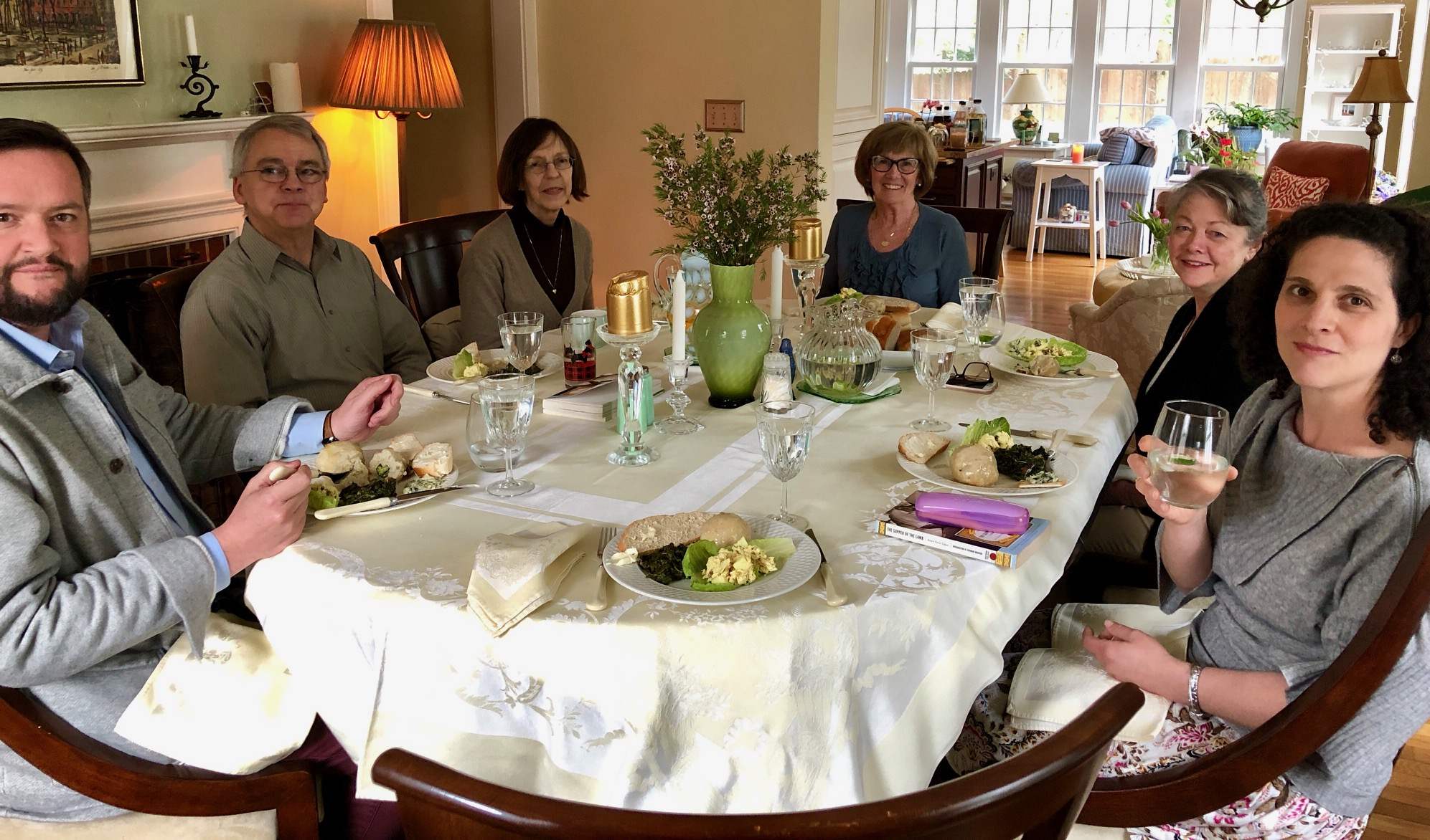Our book discussion for Robert Farrar Capon's  Supper of the Lamb  included a potluck feast of his recipes.