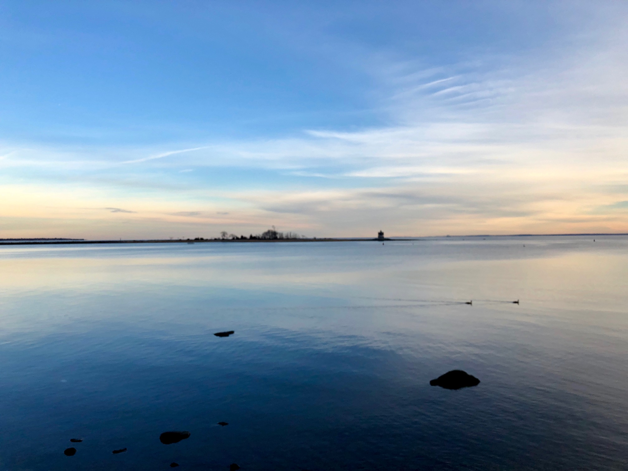 January walk at St. Mary's by the Sea in Black Rock (Bridgeport)