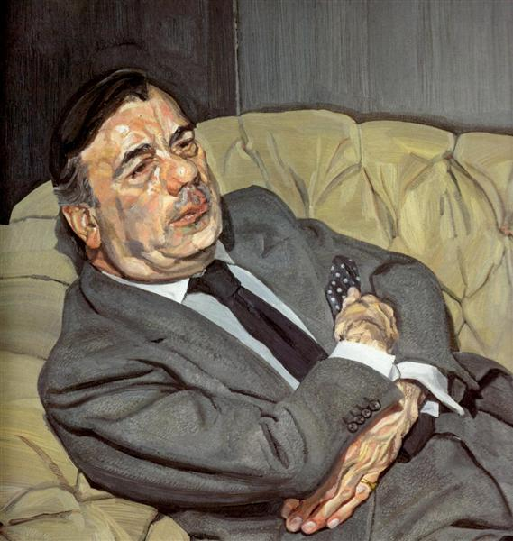 Guy Half Asleep , Lucian Freud   Source