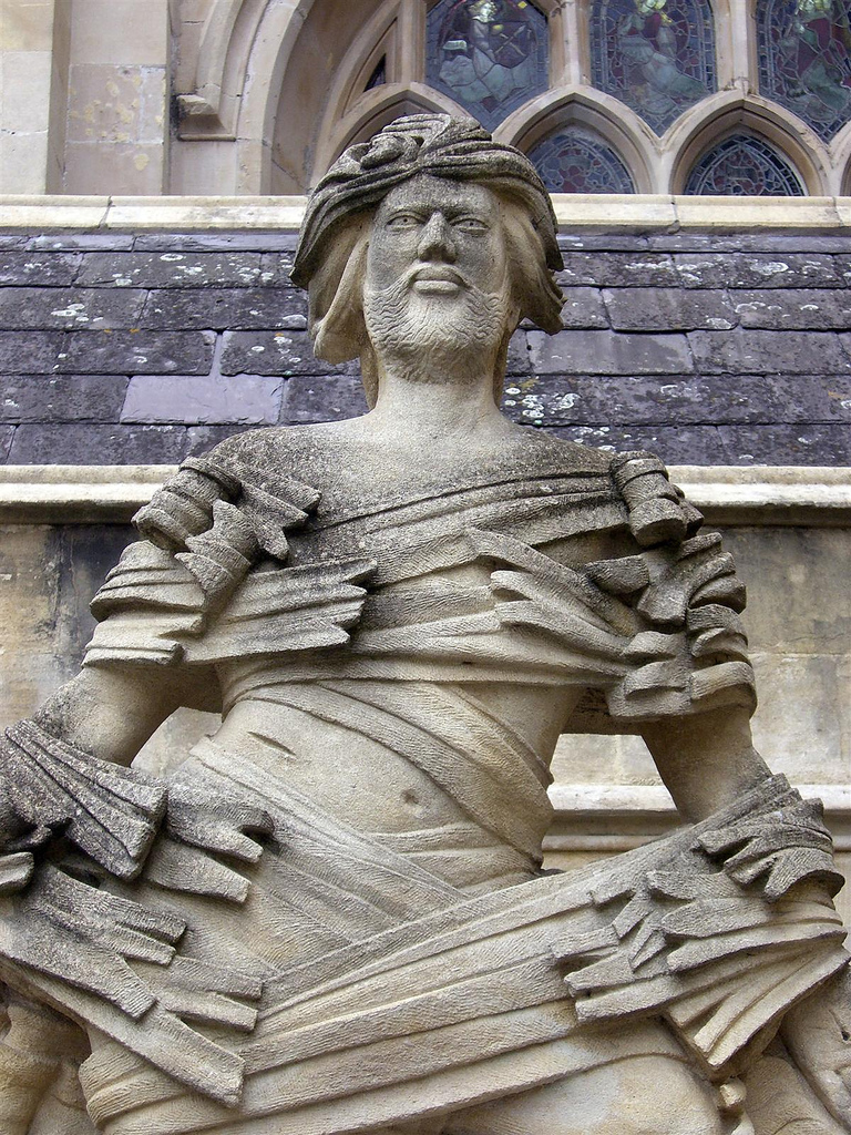 Jesus Ascending , sculpture at Bath Abbey, England