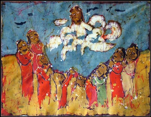 Untitled batik by P. Solomon Raj