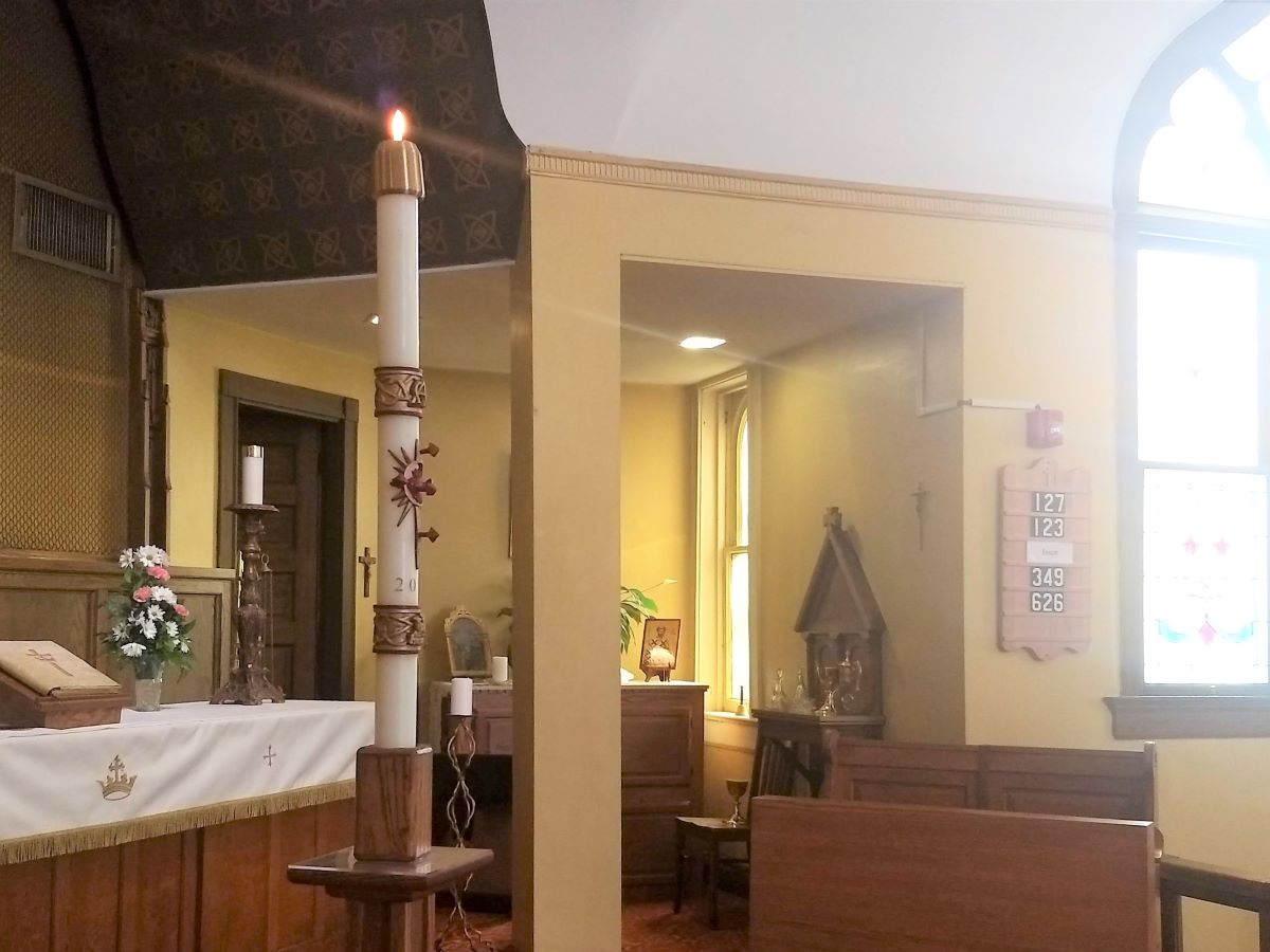 """- Every week, we enter through the doors of our church. It's small and old – lived-in, well-loved. It's not the place to enter if you think newness of life means something big and shiny. But here, to take C.S. Lewis's words, """"the inside is bigger than the outside."""" There are mysteries here -- of smallness and joy (how a stable could hold a King and the whole world be changed through a few weak men). Be like the fox who makes more tracks than necessary. I follow the fox to church. The incongruity is stark. It certainly won't compute. But here, most of all, by love and liturgy, I practice resurrection."""
