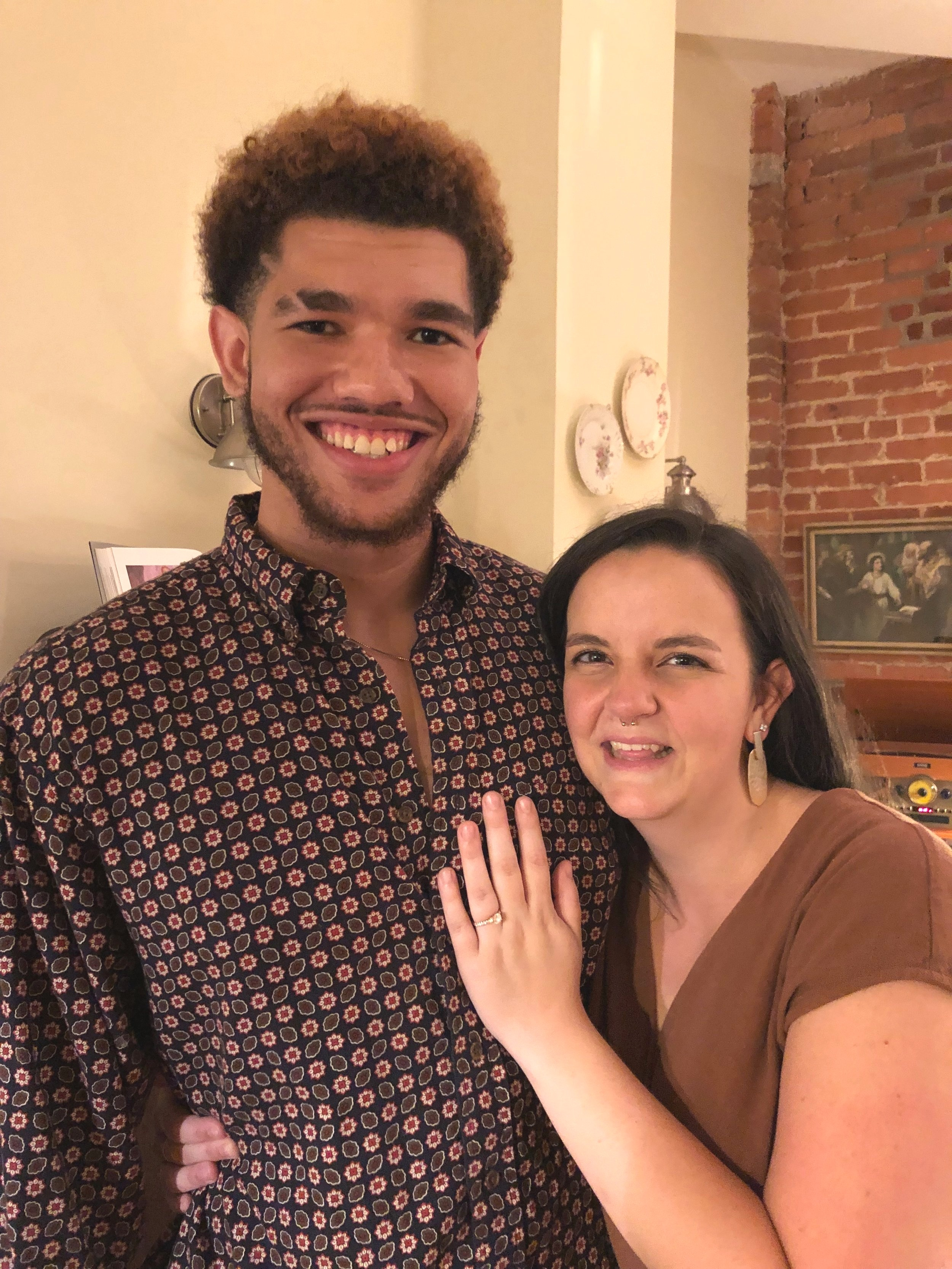 Our daughter Kendra got engaged! We're so happy for her and her fiance, Jordan, and we loved celebrating with them this past week!  Many more photos and exclamation marks to come!