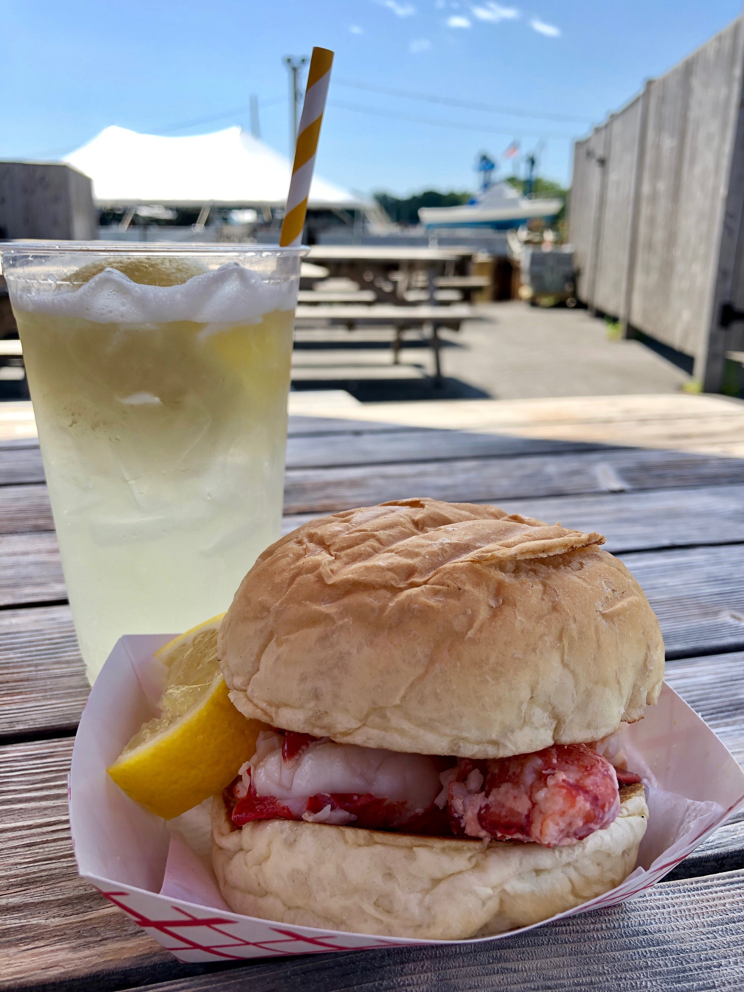 A common grace found in Kennebunk, Maine: The MOST delicious lobster roll I've ever eaten + fresh squeezed lemonade. I will never forget this meal.