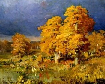 3 Autumn Poems by Jane Tyson Clement - image: Swamp In the Forest, detail, by Fyodor Vasilyev