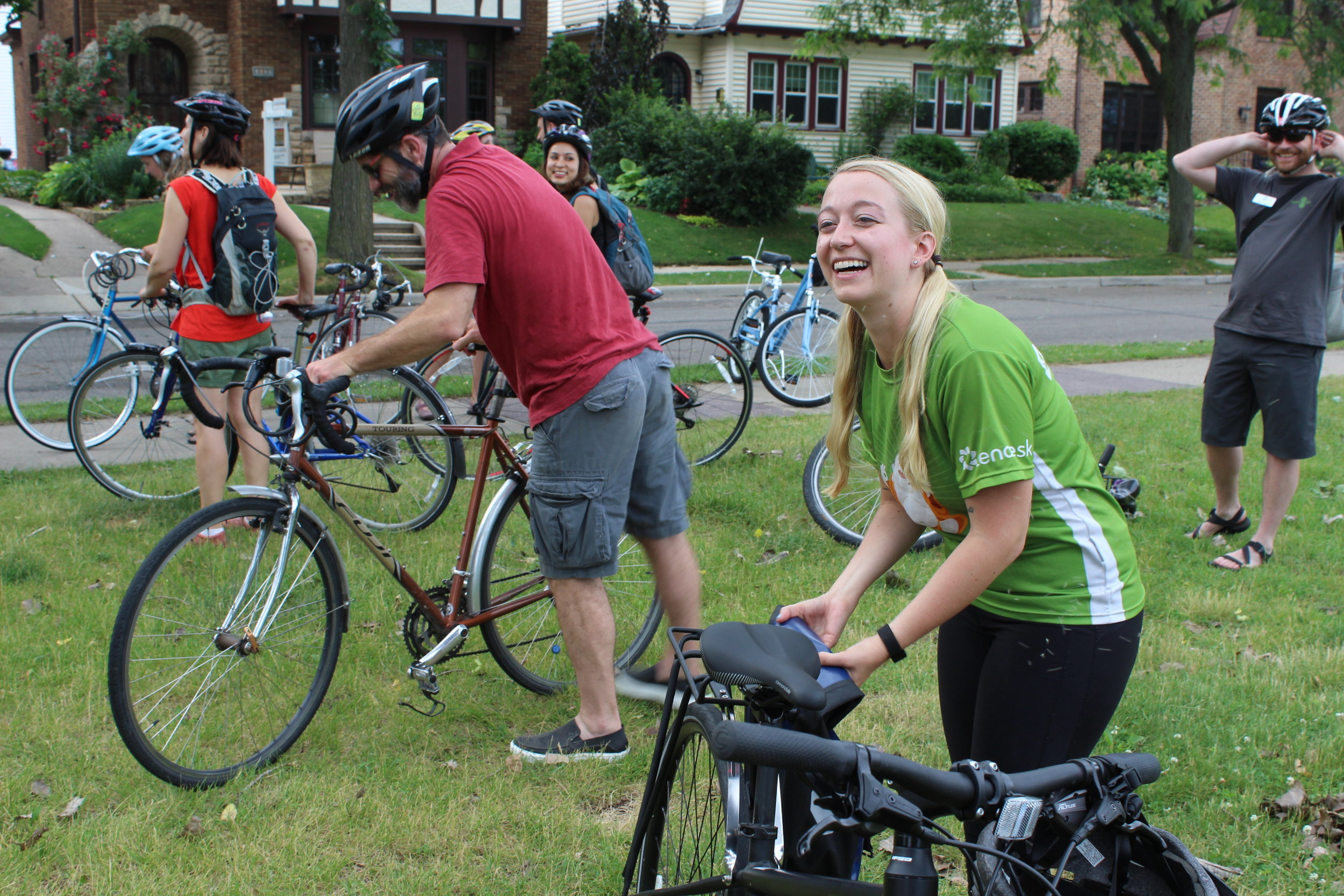 Zendesk supported the event with bike safety guides