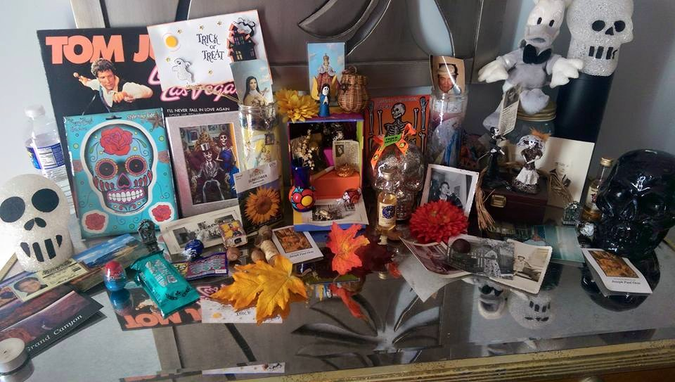 I have one all year round, and one I put up for Dia De Los Muertos. I had lived in the deserts of New Mexico and fell in love with the holiday. It is a big deal there, and it is forever in my heart.