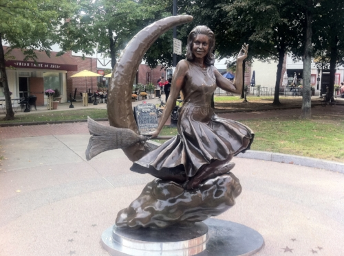 Nothing says Salem, like a statue of Bewitched Star, Samantha. Welcome to the Witch City.