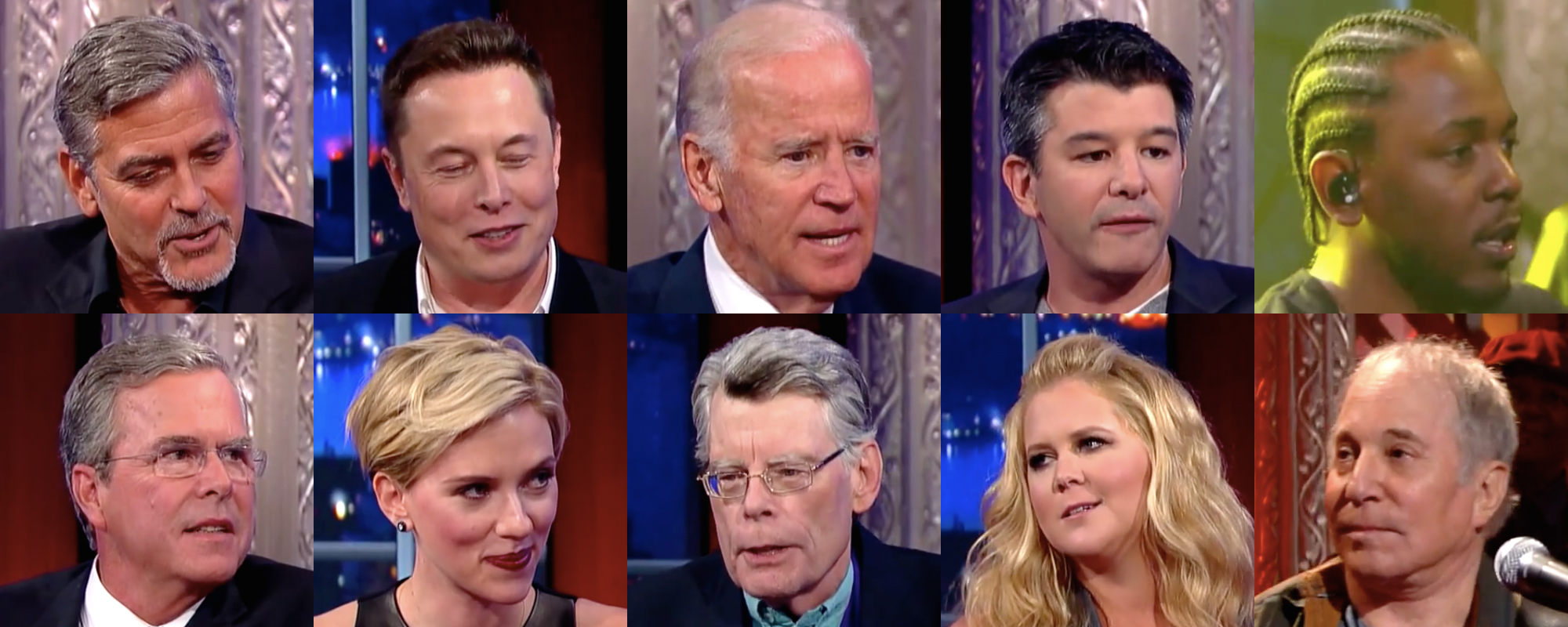 Colbert's plethora of A-list guests for week 1