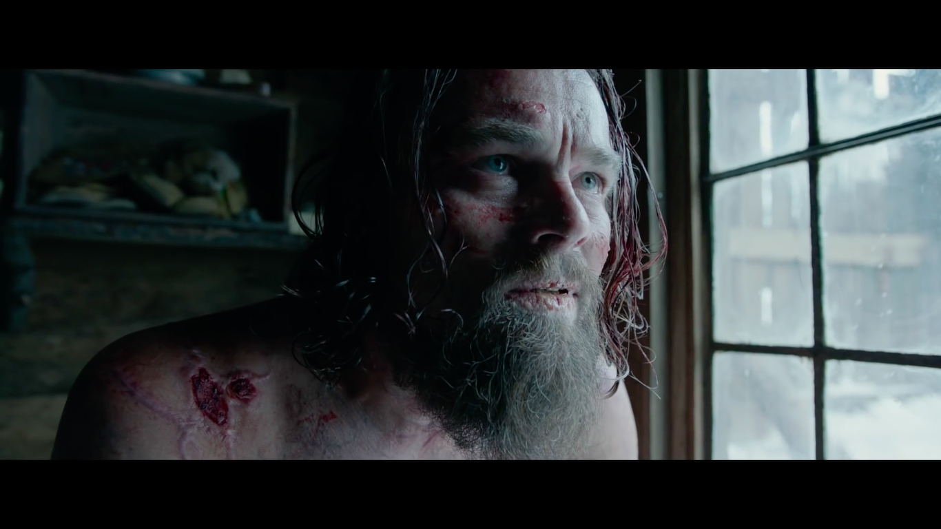 DiCaprio relies on physical acting for most of his time on screen and is able to perfectly execute it