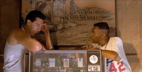 During parts of the film, characters have direct conversations abut racial issues
