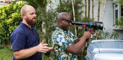 James Laxton (left) with  Moonlight  director Barry Jenkins (Right)