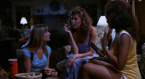 During the film, the female characters have a slumber party while their parents are away