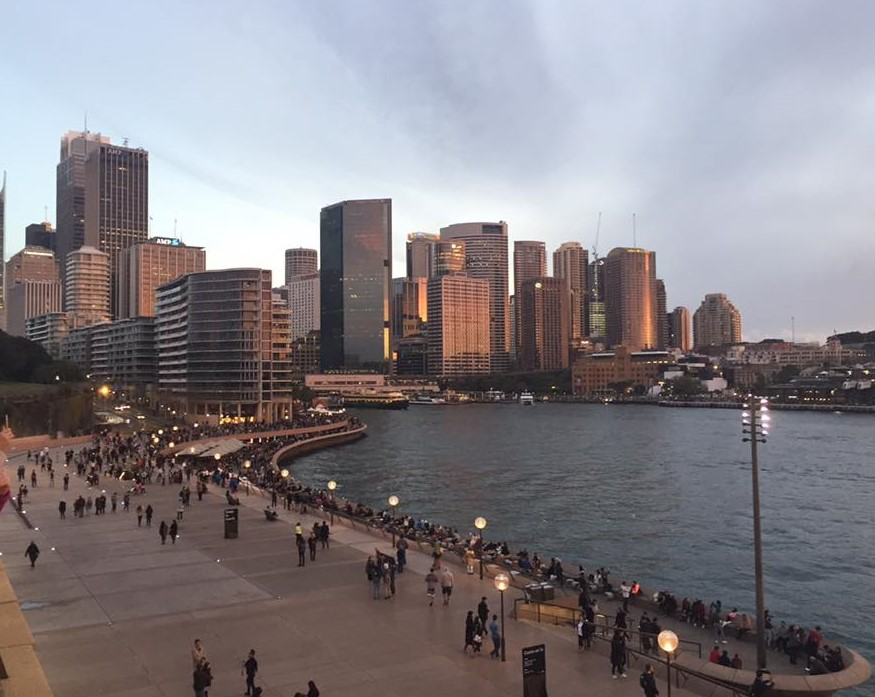 Downtown Sydney from the east side of the harbour