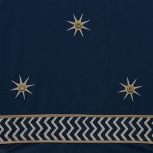 Indigo with Gold Star