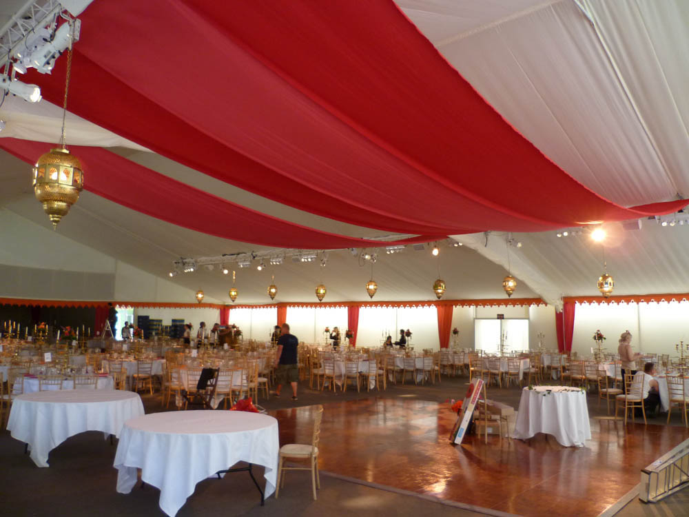 Large scale ceiling draping