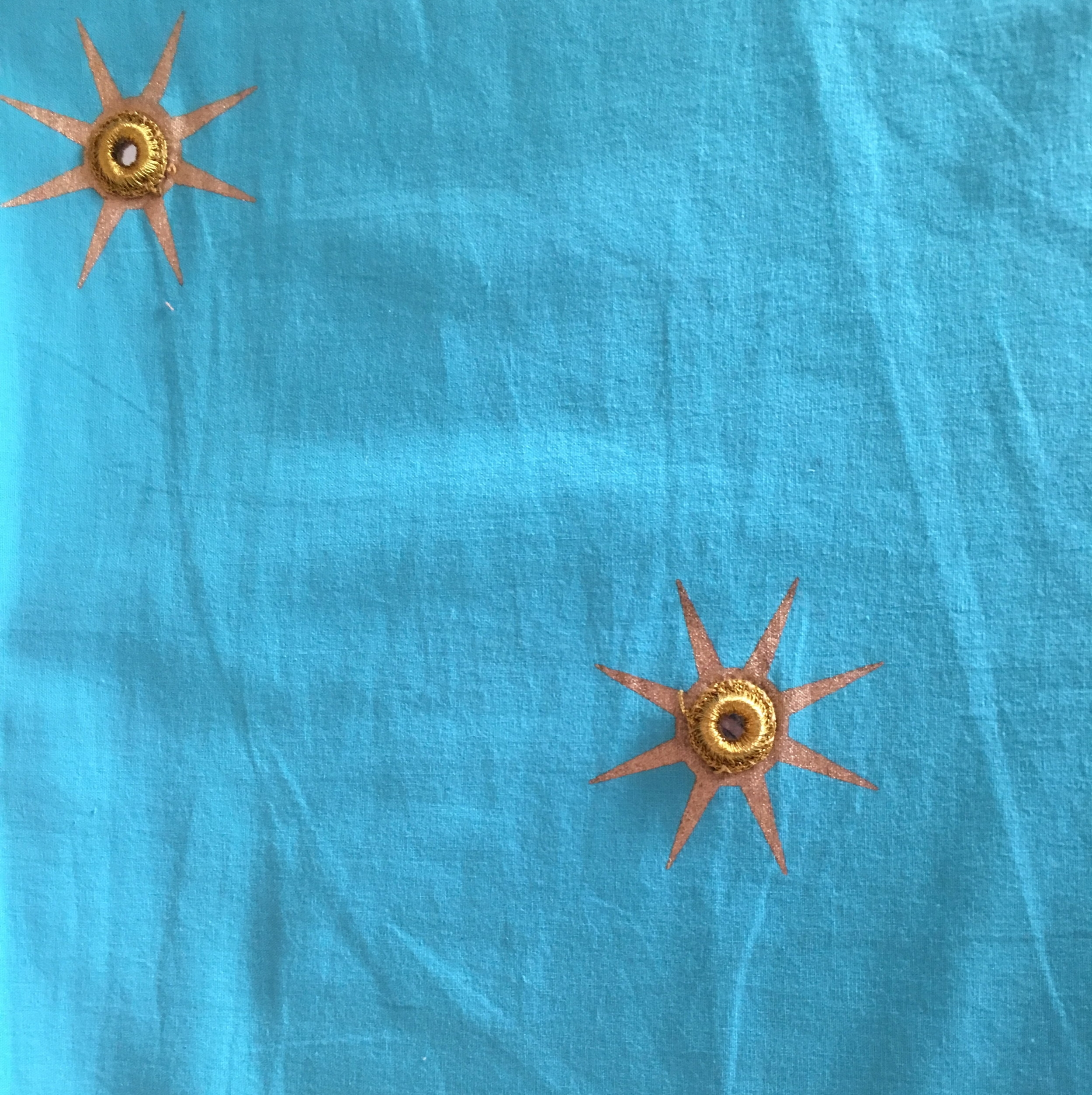 Turquoise with Gold Stars (4m only)