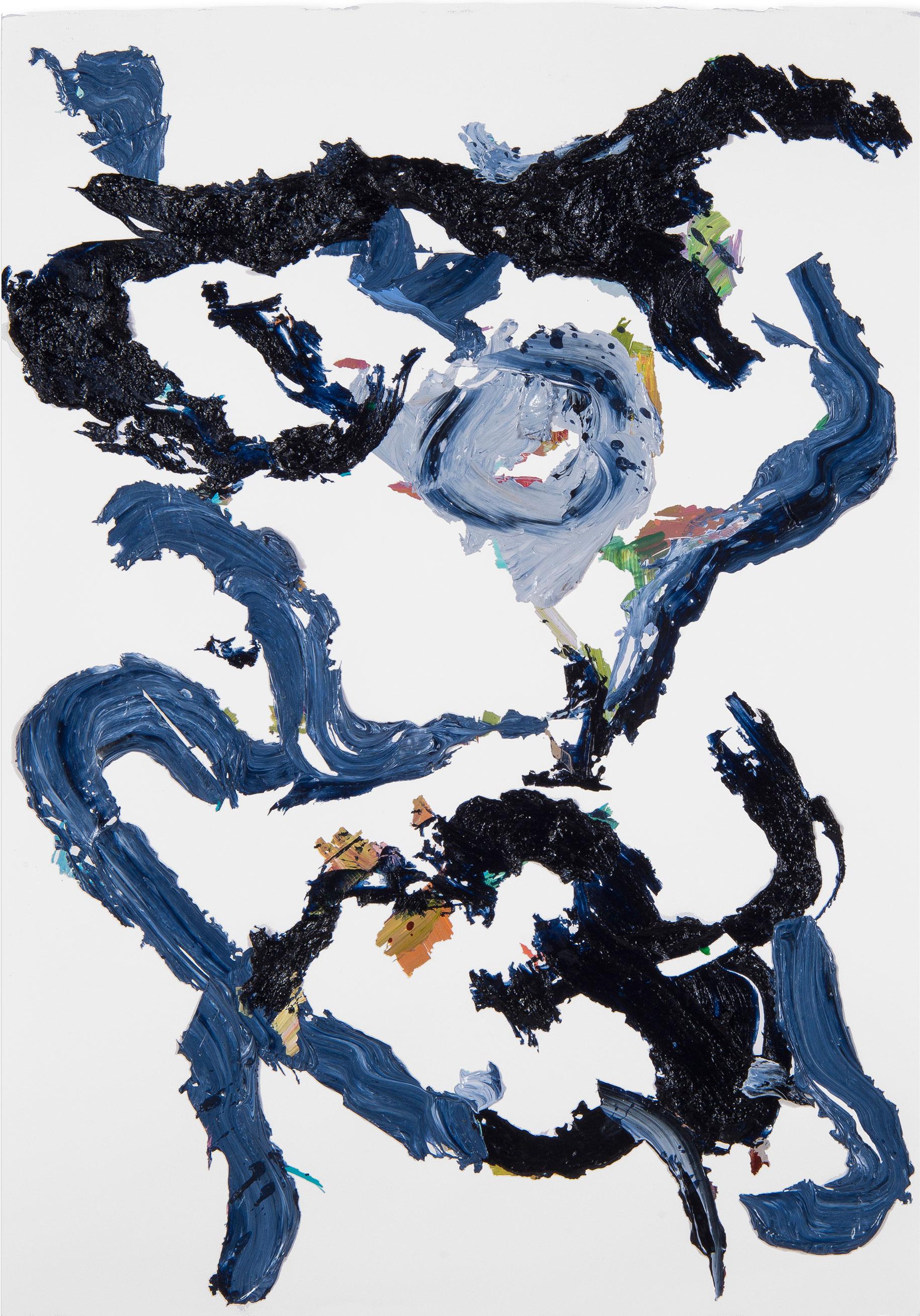 Blue/Black Rose 1