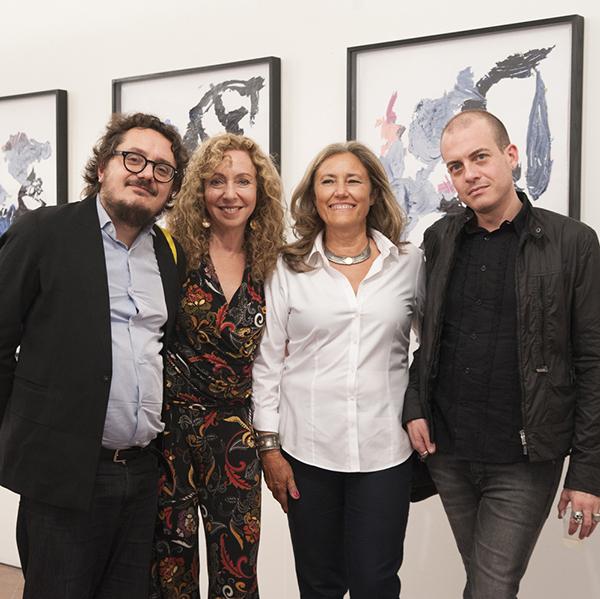Sykes shown with Andrea Viliani, Director of Museo Madre; Daniela Ricci, journalist for Il Mattino and exhibition curator; and Eugenio Viola