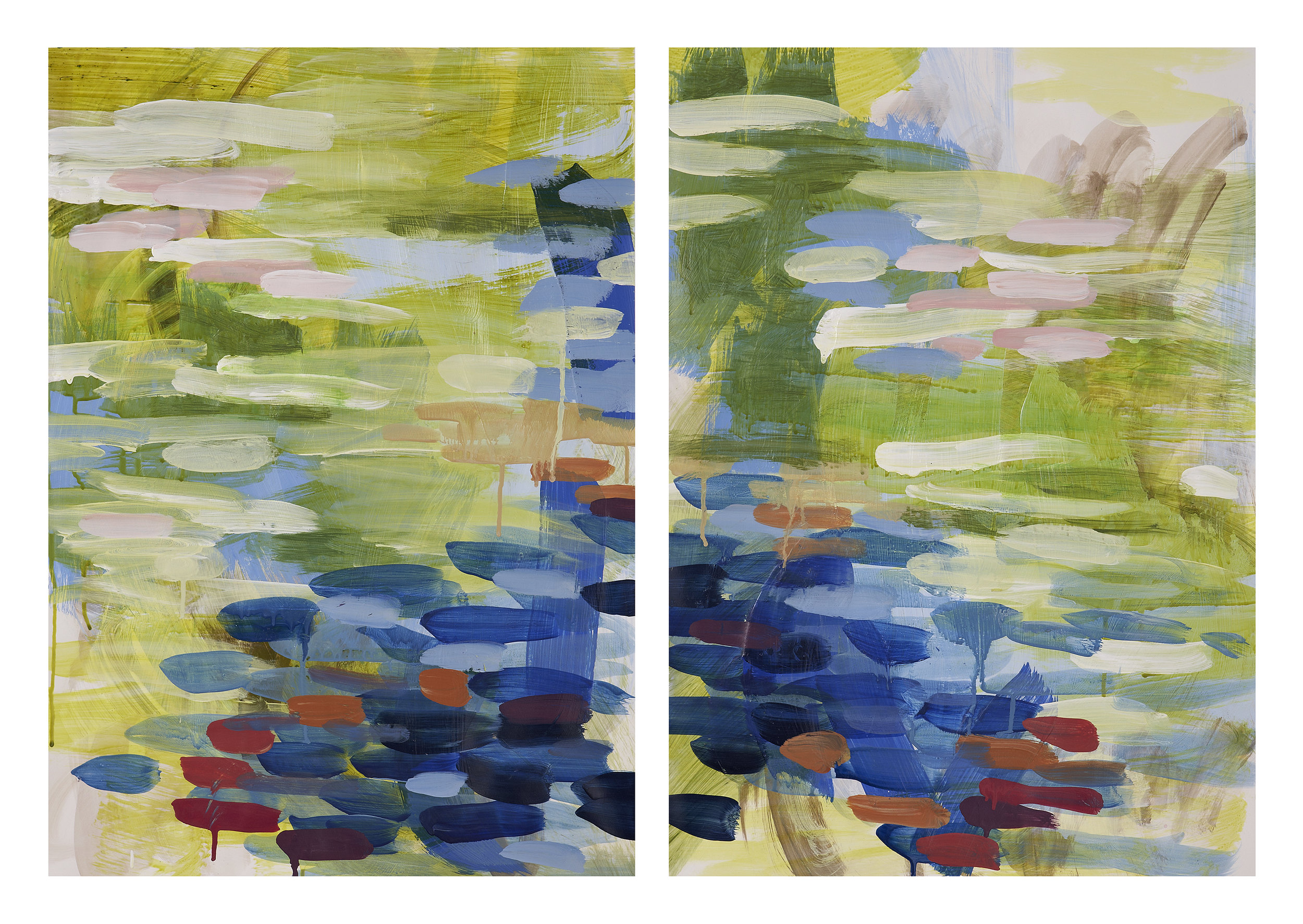 Yellow/Green Diptych 1