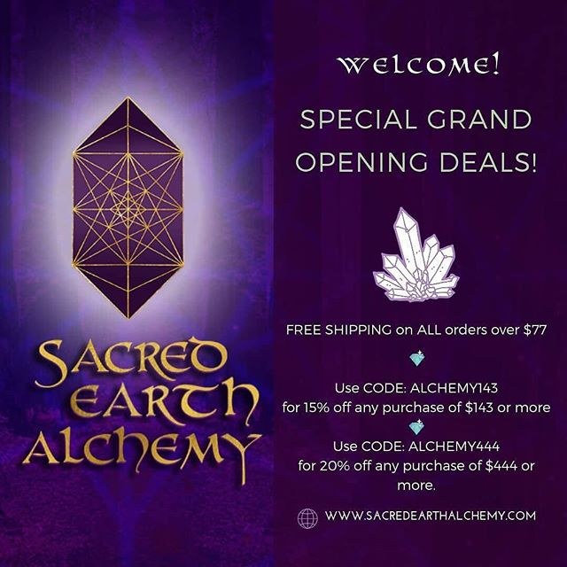I am so excited to share my heartner's @sacredearthalchemy  Crystal & Mineral Shop Website with his services!  Also a big thank you @mintgem  for being an amazing Website Branding Graphic Designer!! Support these two lovely humans that I love so much!! Lance has a grand opening deals for his shop - check it out ✨💎✨ Www.sacredearthalchemy.com