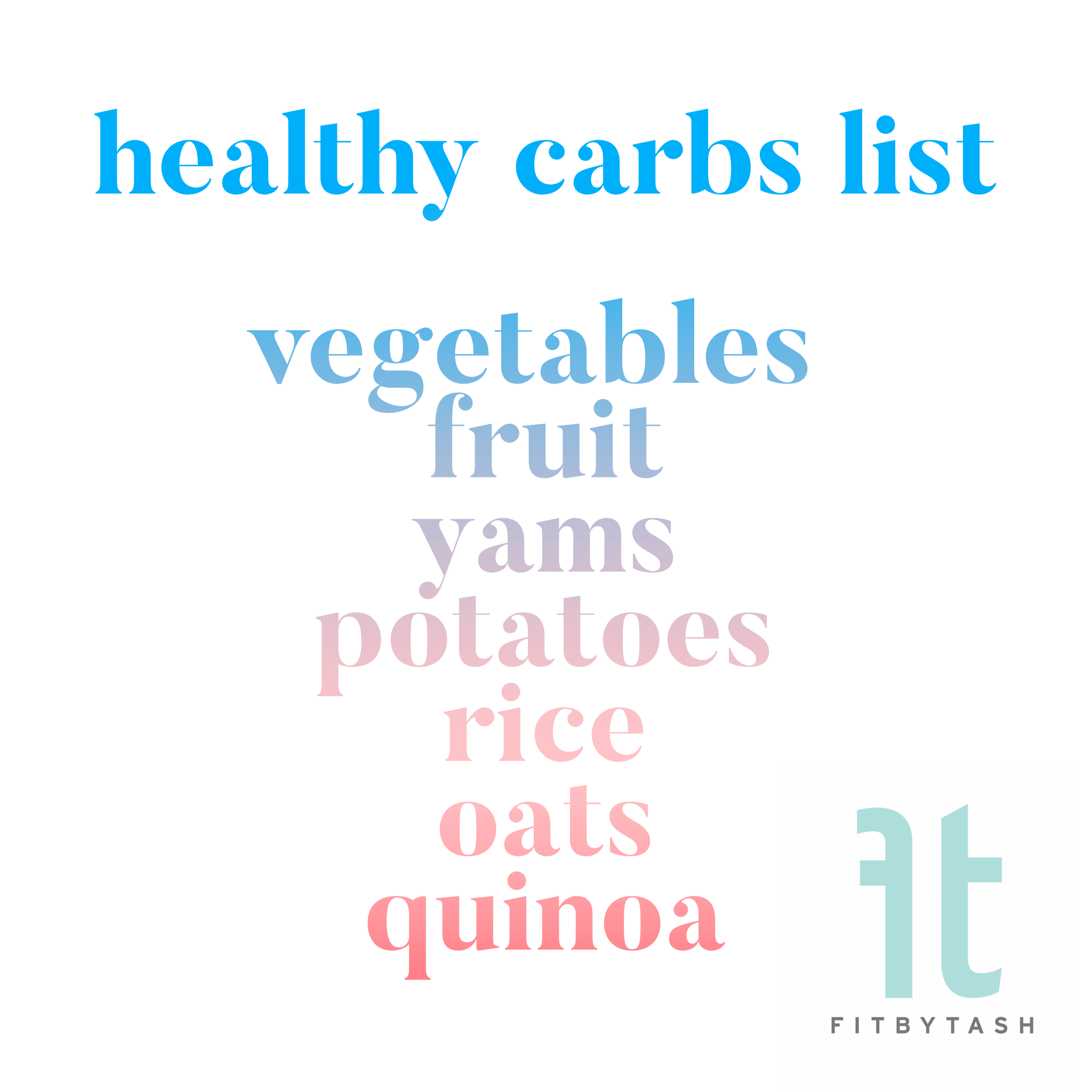 Healthy Carbs List