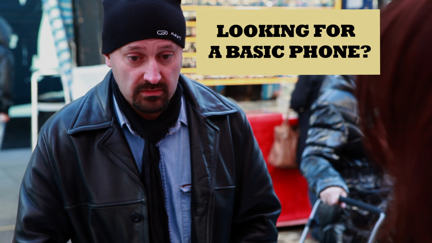 Basic Dave Buys A Phone   Dave wants a simple phone, but finding one is not easy. Will he have to compromise?