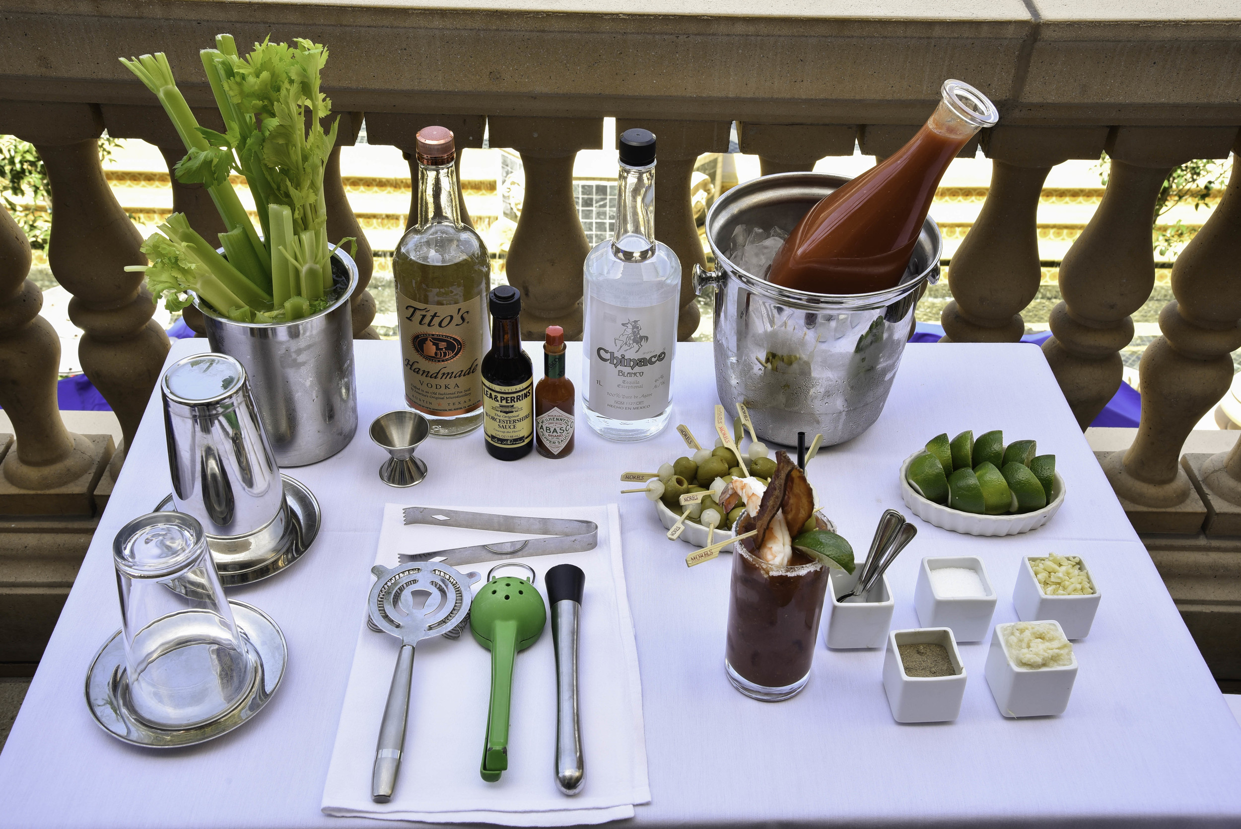 The tableside bloody mary cart
