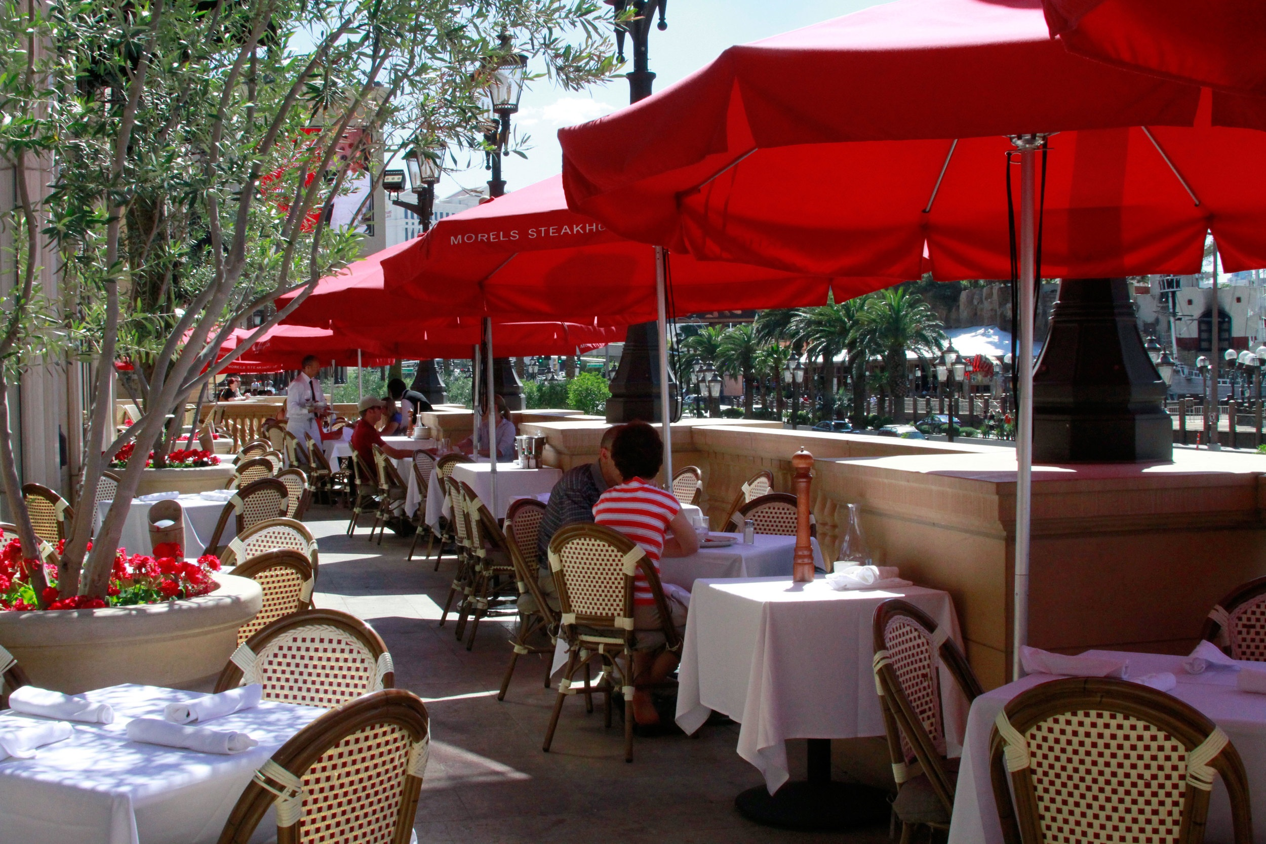 The patio on The Strip