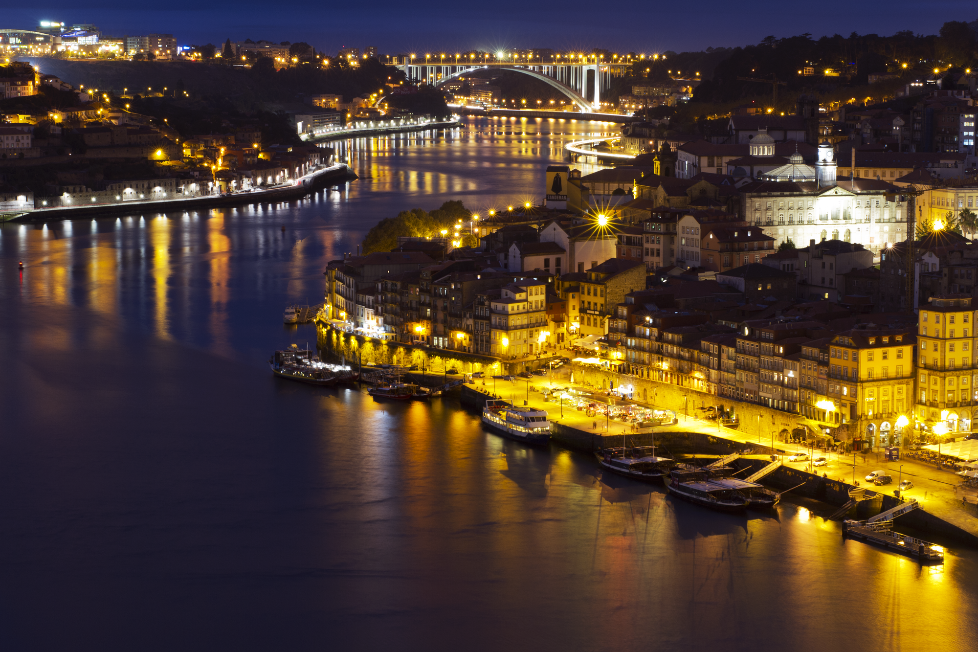 Douro river view in the night.