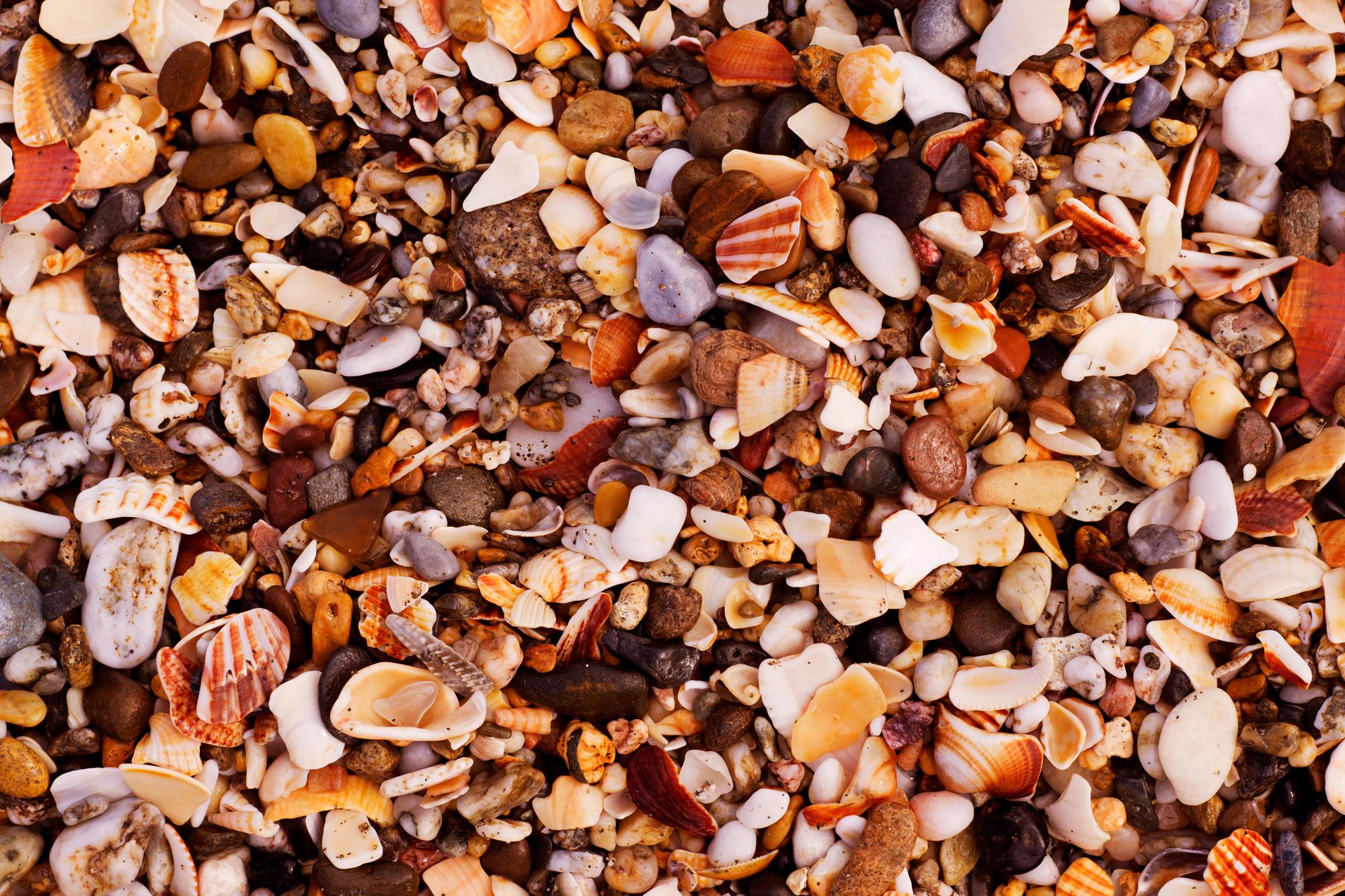 pebbles sand