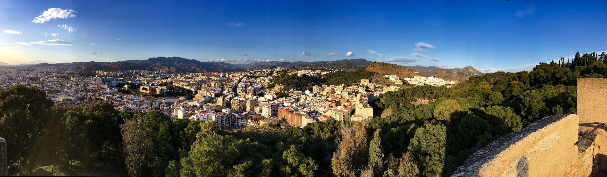 Málaga view from Gibralfaro Castle